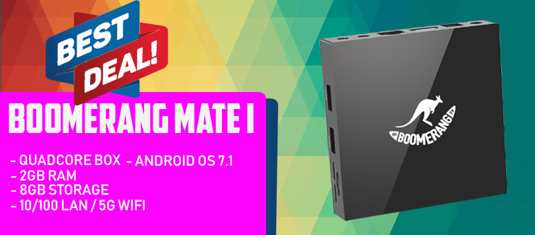 Boomerang Mate I Android IPTV OTT set-top box