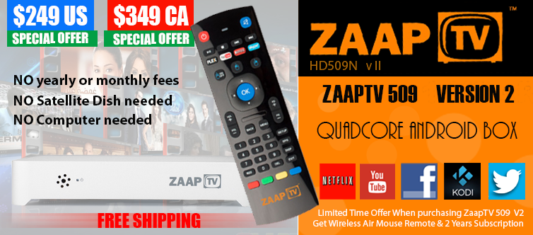 ZaapTV HD509 II Arabic IPTV Media Box