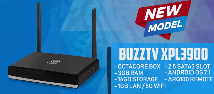 BuzzTV XPL 3900 Octa Core Android IPTV set-top Box