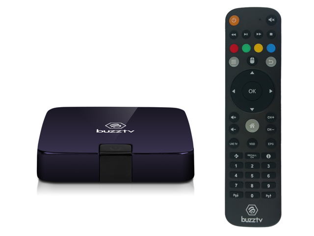 BuzzTV XPL 2000 Android IPTV OTT set-top HD 4K TV Box (Royal Purple)