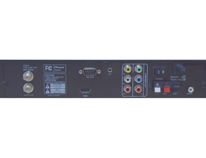 Pansat 9500 HDX High Definition Free to Air Receivers