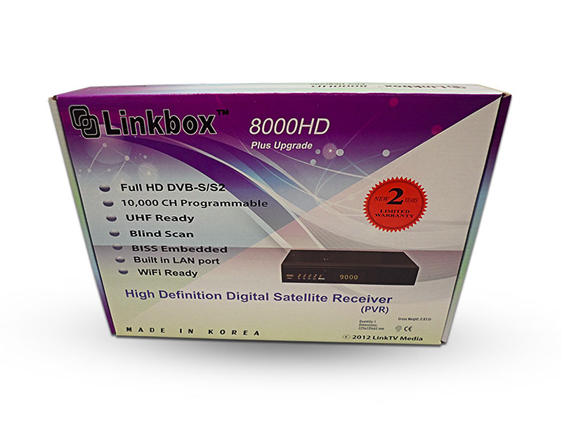 Linkbox 8000 HD Plus + Wireless WiFi