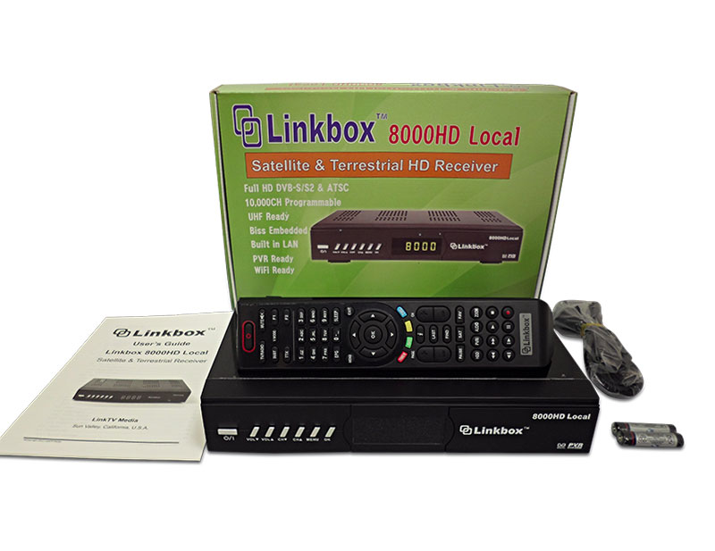 Linkbox 8000 HD Local + Wireless WiFi  <b>***Sold Out!***</b>