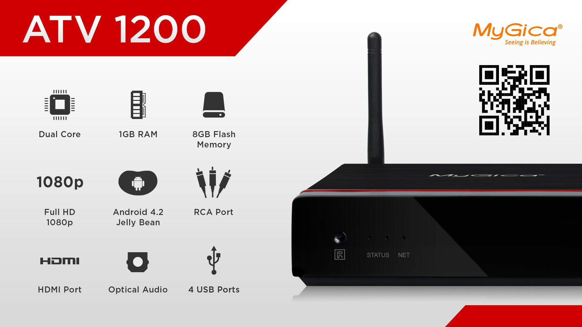 MyGica ATV1200 Dual Core Android TV Box (2014 Edition)