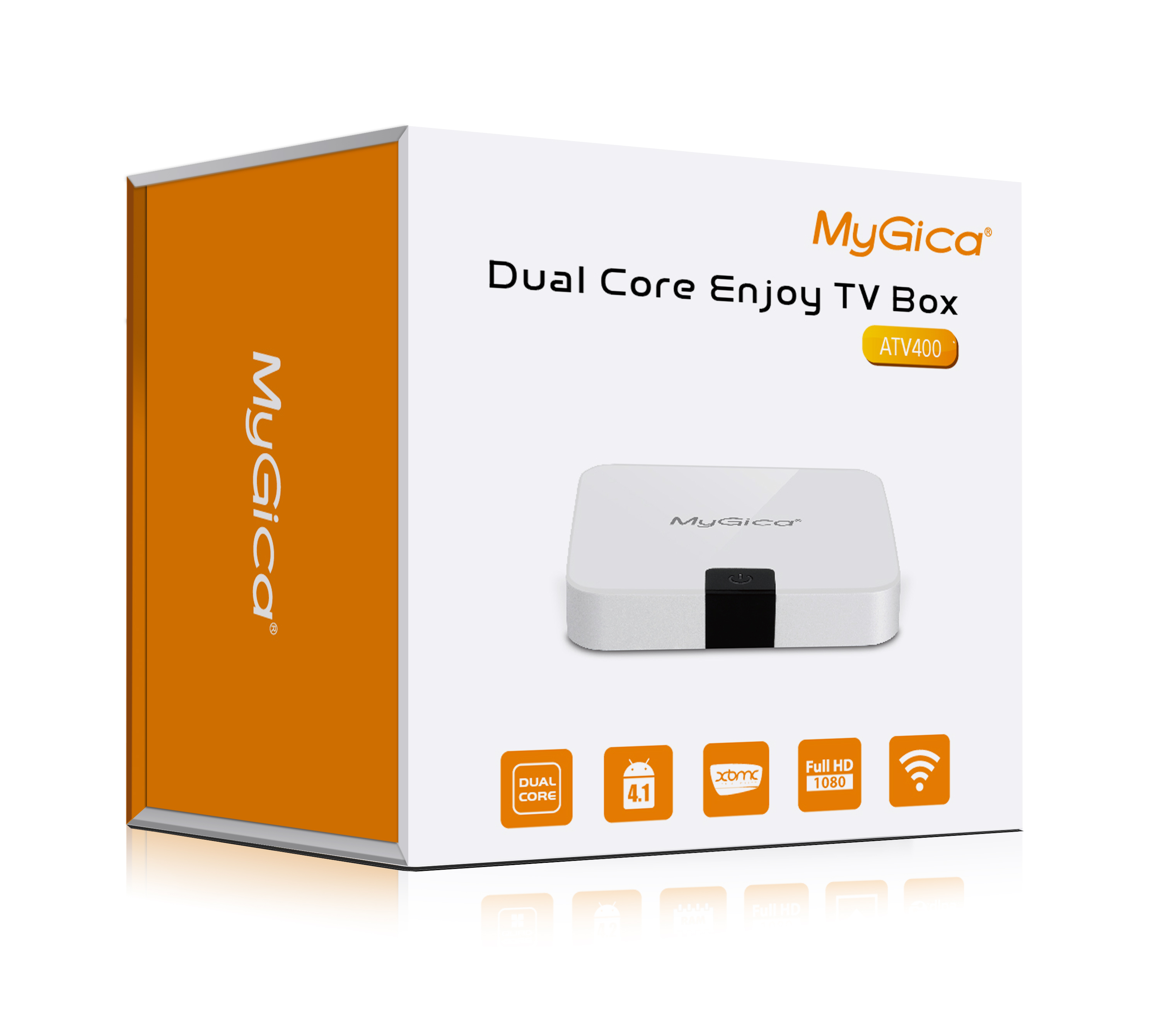 Mygica ATV400 Extra Slim Dual Core Android TV Box (Ivory White) <b>**DISCONTINUED**</B>