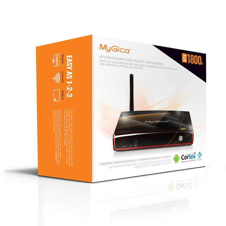 MyGica ATV1800e Quad Core Android Ultra 4K HDTV Box (Open-Box)