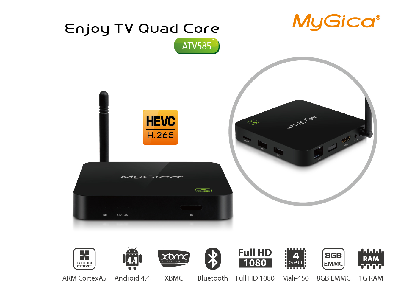 MyGica ATV585 Quad Core Android TV 1080P Box