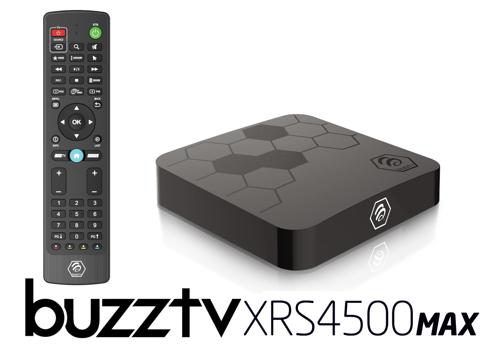 BuzzTV XRS 4500 MAX Android IPTV OTT set-top HD 4K TV Box